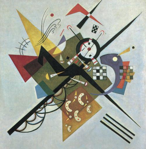 《白色之上II》,1923年,油畫,105厘米×98厘米,巴黎:喬治·蓬皮杜中心