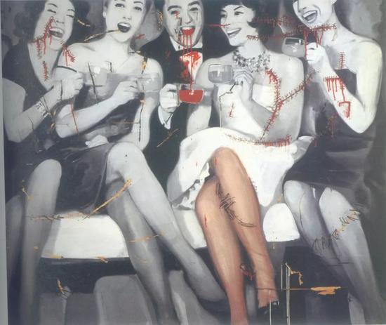 格哈德·里希特的照片绘画  图片来自网络