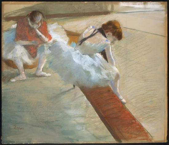 德加《休息的舞者》Dancers Resting,1881–1885