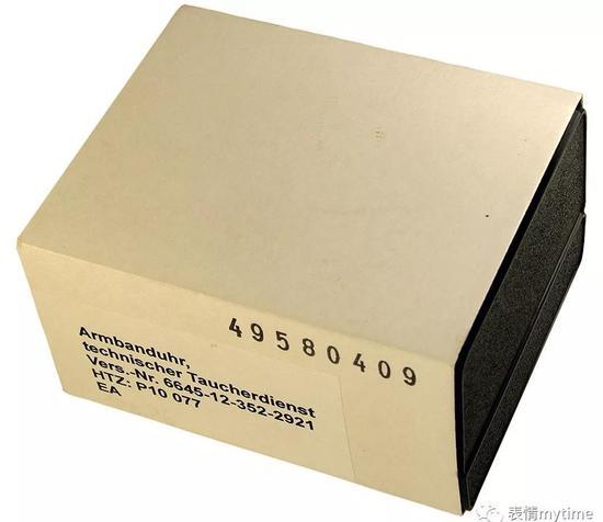 潜水士兵和水下突击队员获配腕表的纸质包装盒毫不起眼