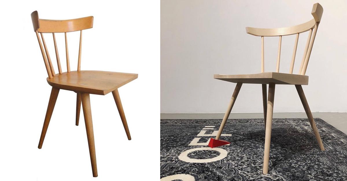 左为Paul McCobb 的作品,右为 Virgil 的设计(图片来源:designboom)