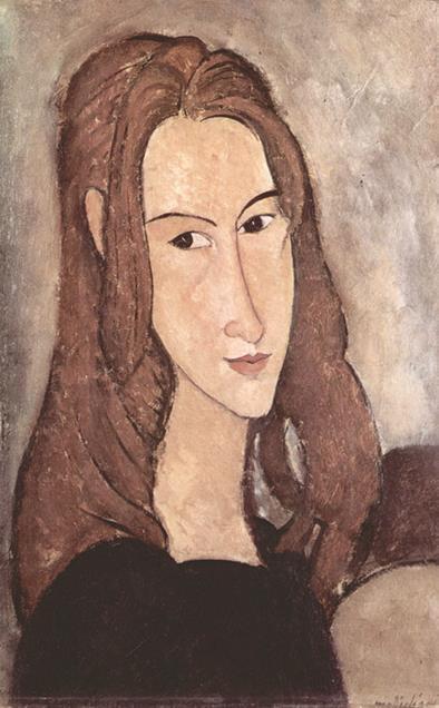 莫迪里阿尼1918年画下的珍妮肖像