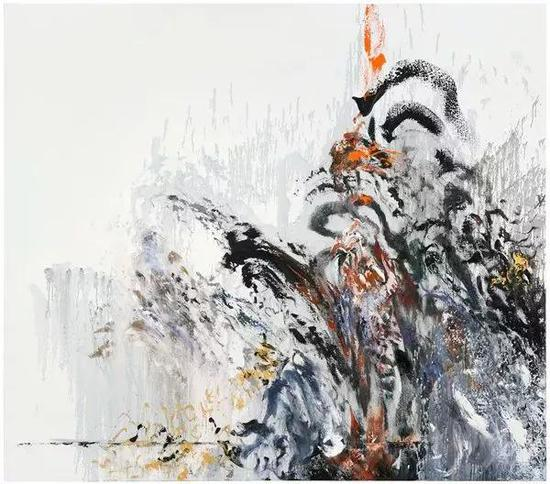 玛吉·汉布林水之墙 13 布面油画 198x226cm 2012