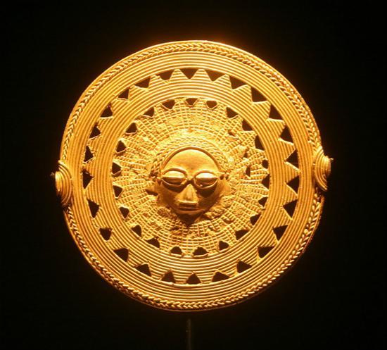 西非黄金吊坠