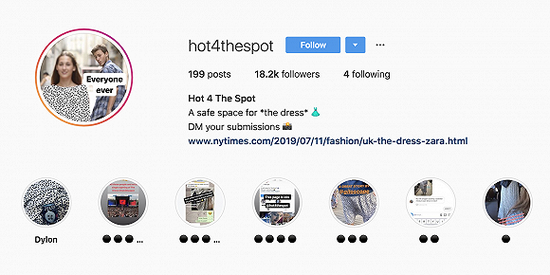 Instagram账号@hot4thespot