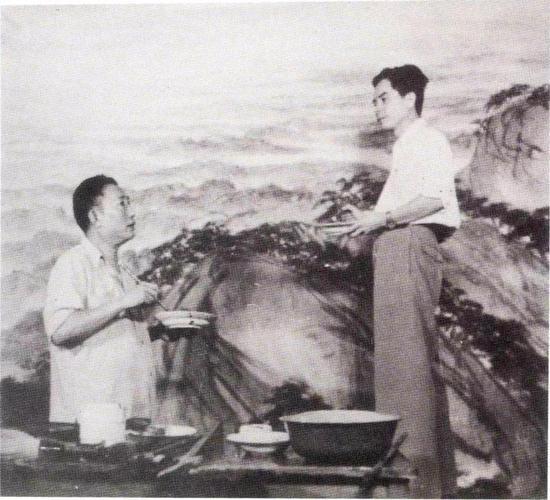 傅抱石、关山月共同创作《江山如此多娇》