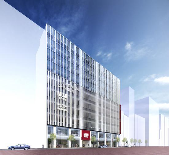 东京银座在建的 MUJI 旗舰店大楼效果图