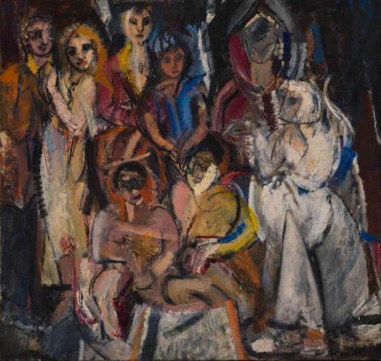 格蕾丝·哈蒂根(Grace Hartigan)《化妆舞会》,1954年。图源:波士顿美术馆