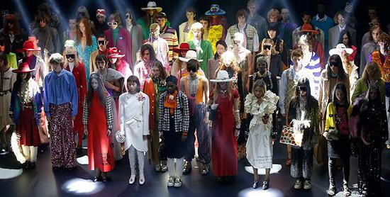 Gucci在巴黎举行的2019春夏大秀 图片来源:Gucci