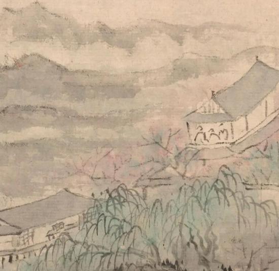 清 梅清 杏花春雨楼图(局部)