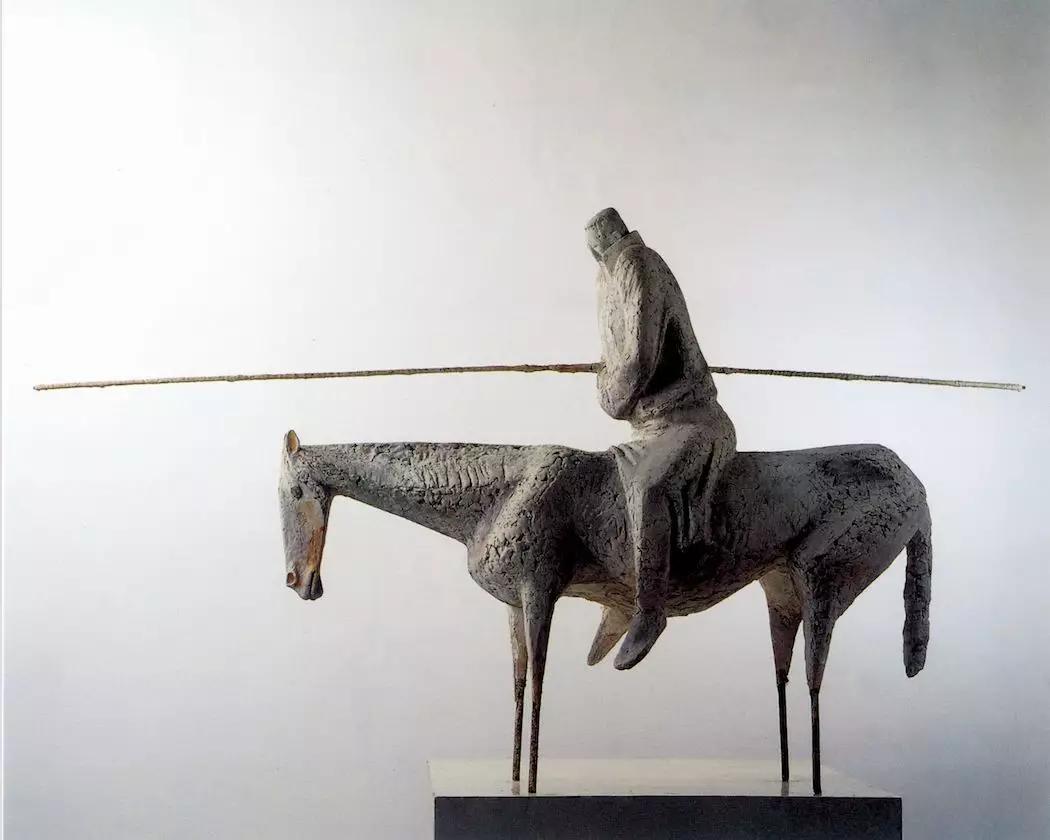 冬季草原 / 张克端 / 85 ×170 ×50 cm / 石膏 / 1985