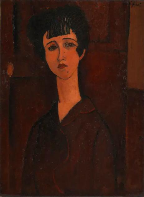 莫迪利亚尼,《女孩肖像》,1917,英国泰特美术馆藏