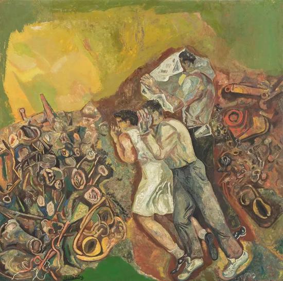 王焕青 青春 1993 布面油画 147×147cm