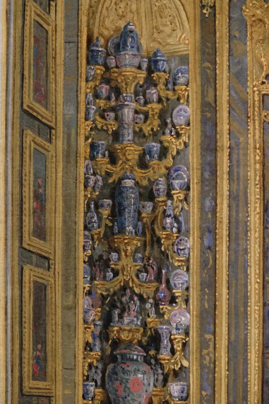 18世纪油画中的巴洛克式瓷器陈设(来自Giuseppe Zocchi画作)