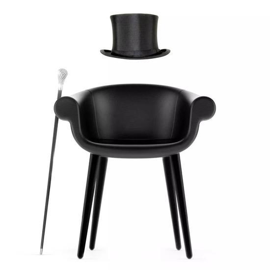 灵感源于礼帽的椅子