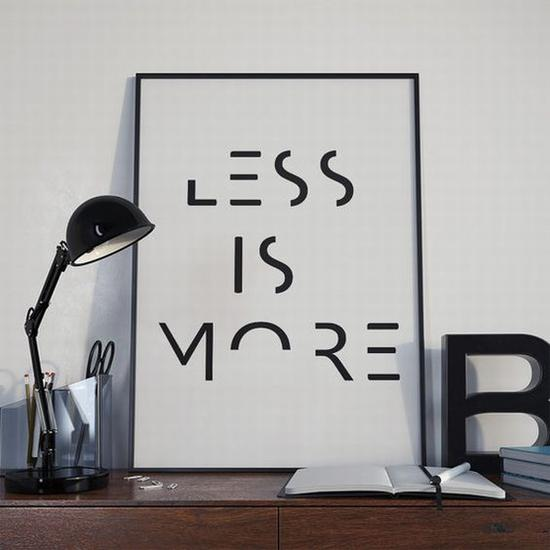 Less is more 图片源自etsy. com