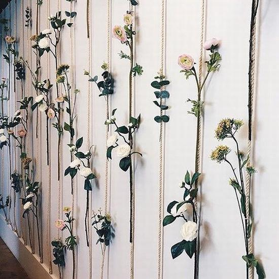 做成一道花帘挂在墙上 图片源自instagramblogcariocando