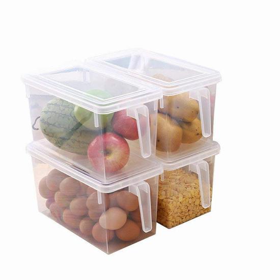 成琳 日式冰箱收纳盒厨房储物盒 价格约59.9元4个 亚马逊有售图片来自www.amazon.cn