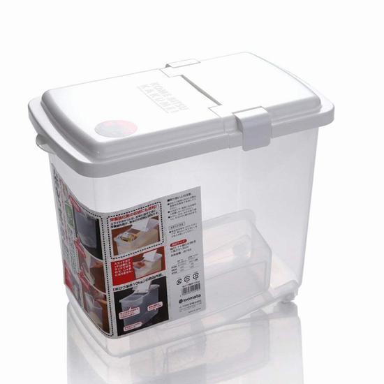 日本inomata透明储米箱 价格79元 亚马逊有售 图片来自www.amazon.cn
