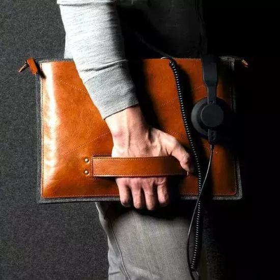 ▲Folio - 带手柄的手拿包