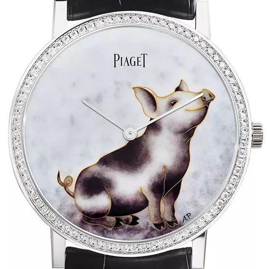 伯爵 Altiplano猪年限定版掐丝珐琅腕表