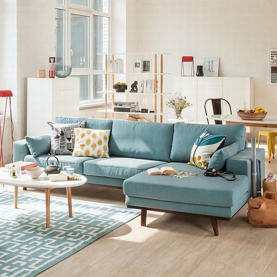 最常见的L型沙发 图片源自home24.fr