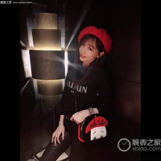 王心凌佩戴里查德米尔女士系列RM07-01 NTPT腕表(出镜率很高)