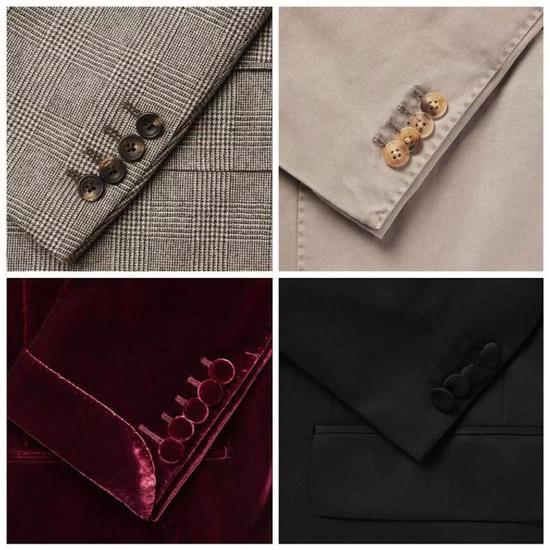 不同风格的袖扣