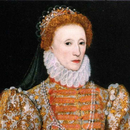 ▲ 创作于 1575 年的伊丽莎白一世画像