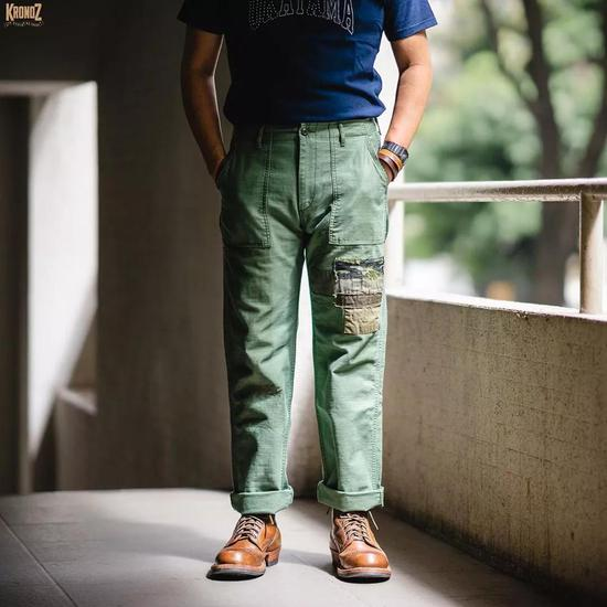 Japan Blue J273111 Modern Military Baker Pants  (INS:Kronoz Denim)