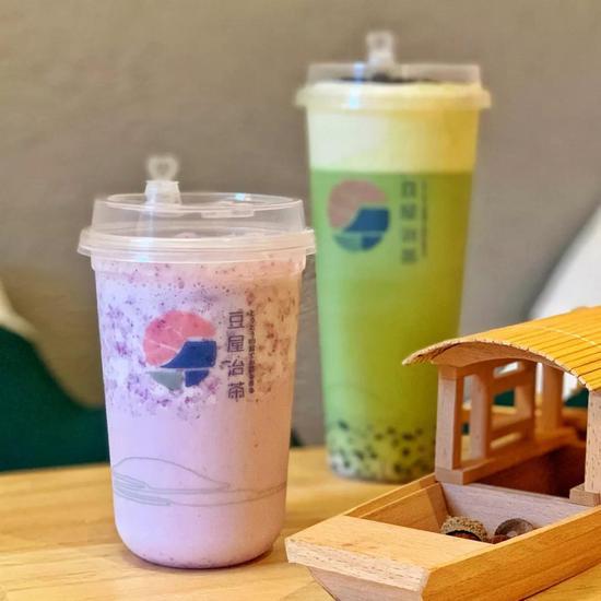 🍵豆屋治茶-玫瑰豆乳沙冰