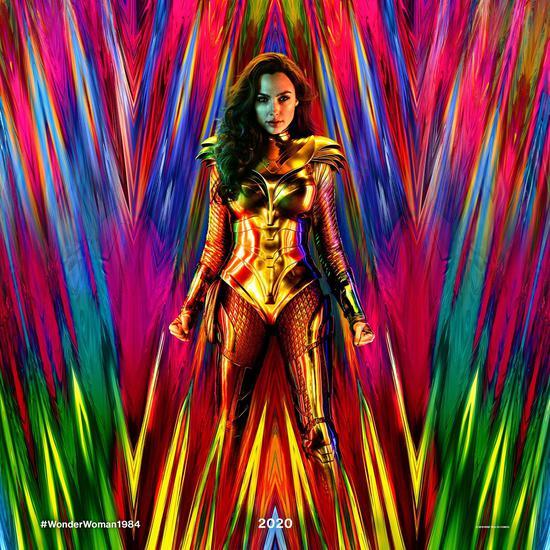 《神奇女俠1984》預告海報。