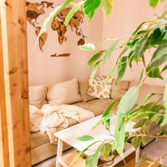 活泼明媚的橙黄色小屋 她家的44㎡好像放大版的向日葵