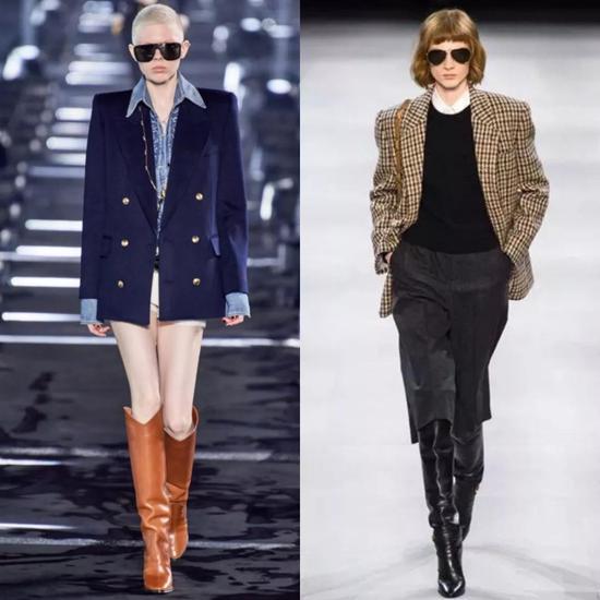 秋冬想要一秒变酷 就要去买一件垫肩西装