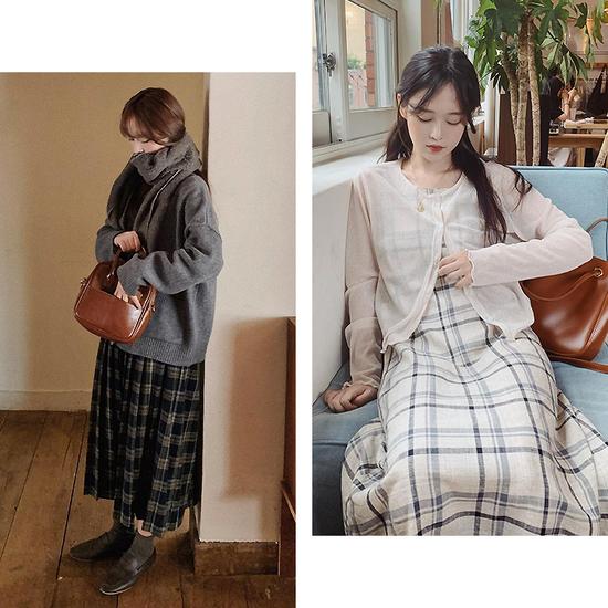 白色棉服和超长外套韩国女生最近都穿这些