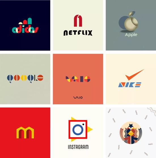 ▲99 Designs 上展示的改造款 logo