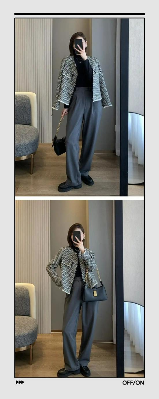 小香风外套时髦百搭,穿上还能显瘦10斤,我一口气买了11件