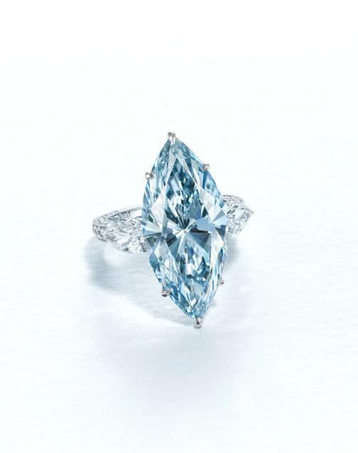 12.11克拉浓彩蓝色IF钻石戒指7月香港上拍