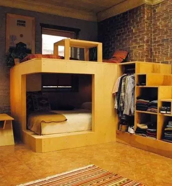 集床、柜子、桌子、台阶于一身,实用100分!