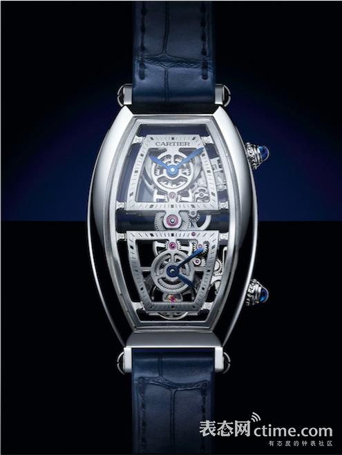 Cartier Privé镂空两地时腕表