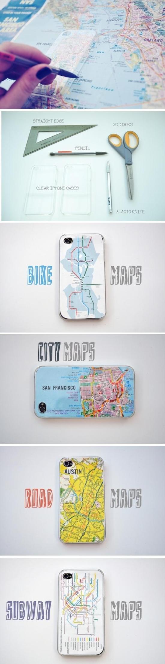 地图版手机壳 图片源自pinterest@Deavita