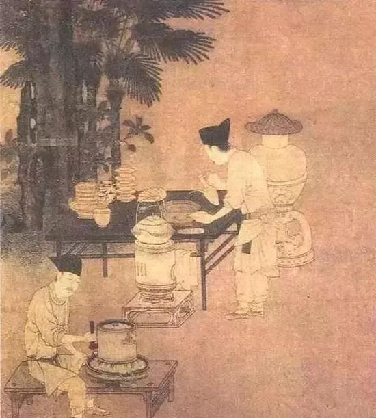南宋 刘松年 《撵茶图》