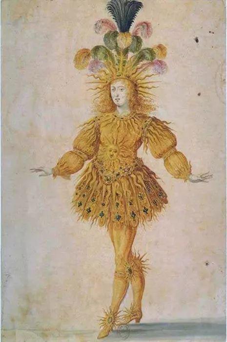 路易十四在亨利·吉赛的皇家芭蕾舞团中扮演阿波罗