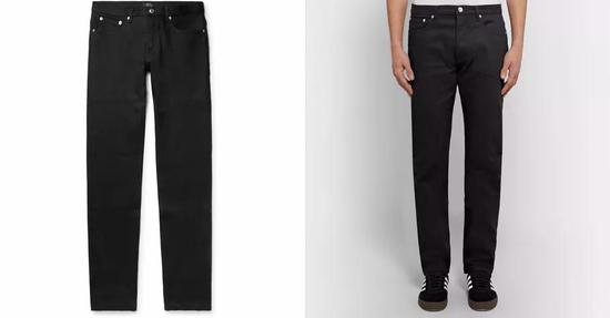 ▲A.P.C弹性修身牛仔裤,约1576元
