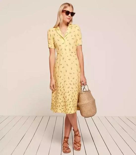 单品推荐:Reformation衬衫裙 1484元(图片来源于品牌官网)