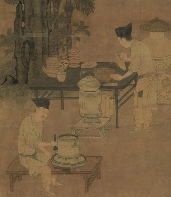 南宋 刘松年 撵茶图 (局部)