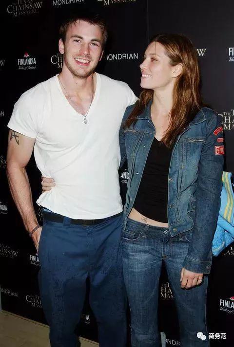 Chris Evans与Jessica Biel