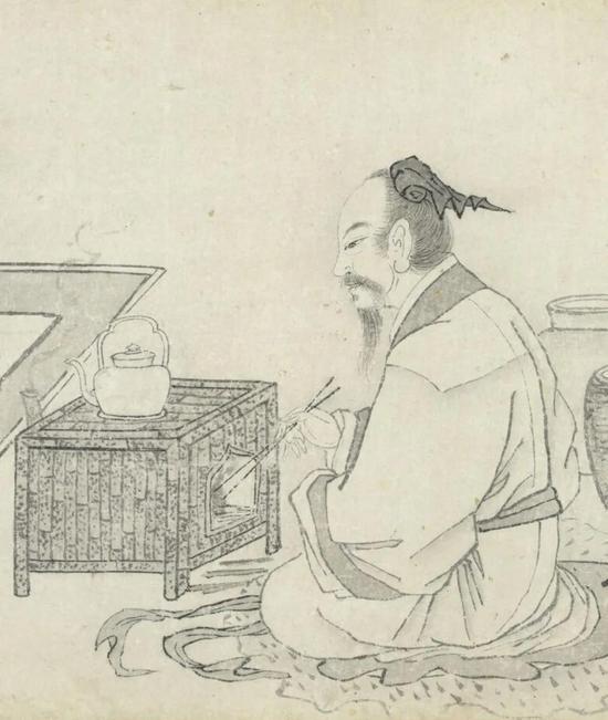 明 王问 煮茶图卷(局部)