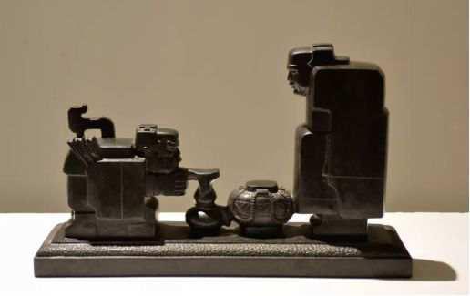 ▲《射手与卖油郎》黑花岗岩 30cm×50cm×14cm 1977年