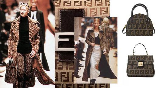 Karl Lagerfeld加盟后设计的FENDI的双F标志